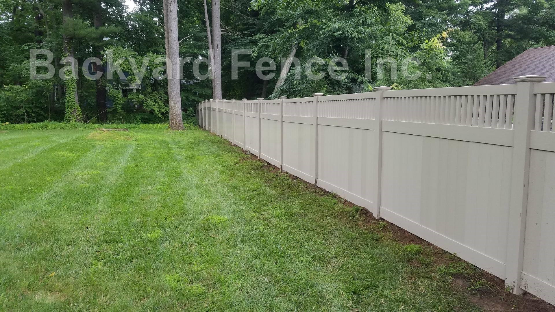 Pvc Fence Backyard Fence Company